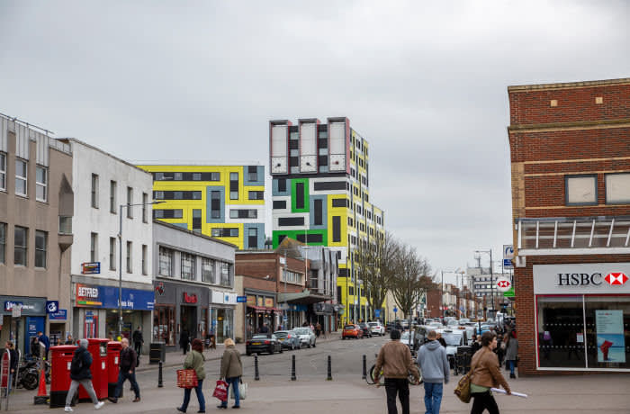 T770DN SOUTHEND ON SEA, ESSEX/UK - University of Essex's new student accommodation in Southend on Sea Essex in Mrach, 2019