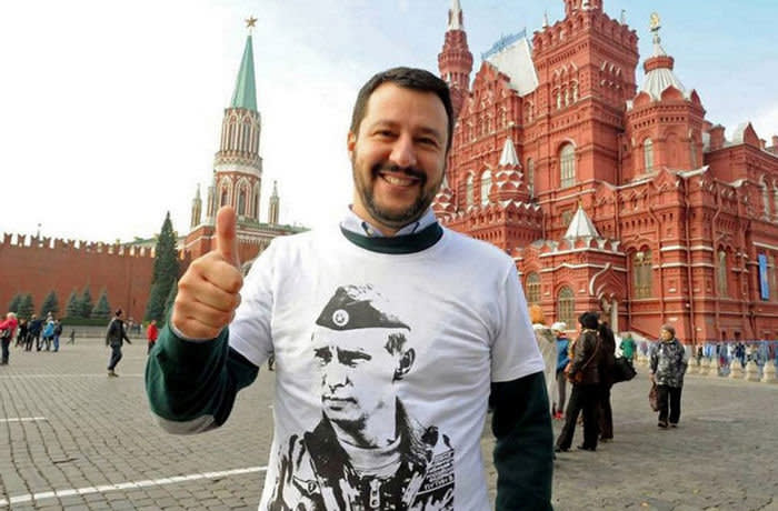 Italy, Rome - June 5, 2018 Matteo Salvini, leader of Lega and Interior Mininister pictured in Moscow during his trip in Russia December 2017 Twitter photo