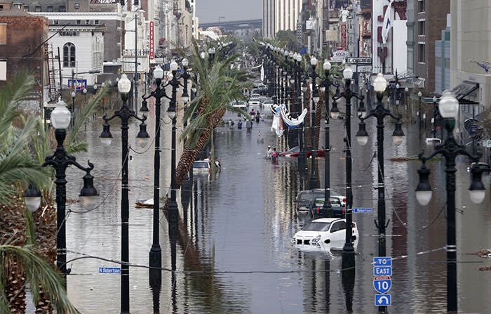 Hurricane Katrina left parts of New Orleans 12ft underwater. Authorities were not prepared for the 2005 storm despite clear warnings