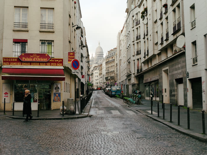 Looking towards the Sacré-Cœur basilica, which sits at the top of Montmartre