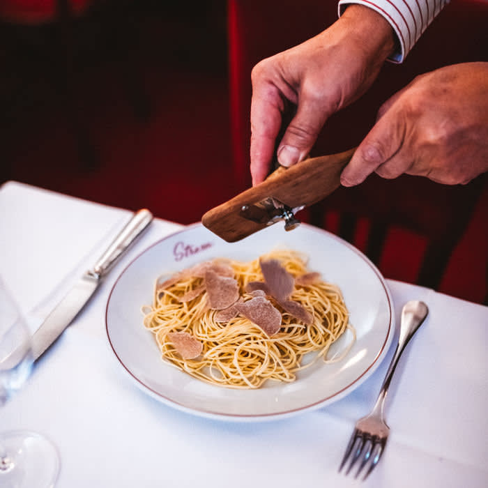 In season, truffles are one of Le Stresa's claims to fame