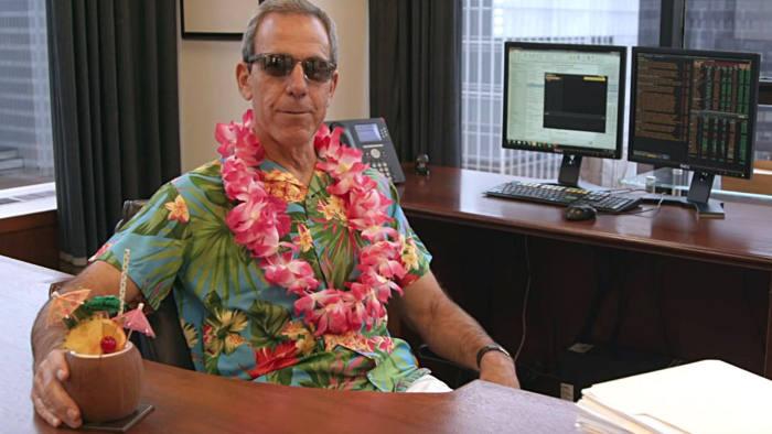 Grab of Bennett Goodman in a Hawaiian shirt, in a Blackstone video