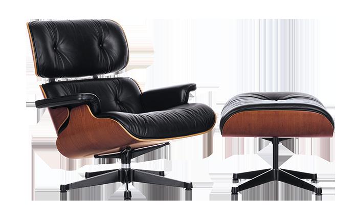 Vitra Eames armchair and ottoman