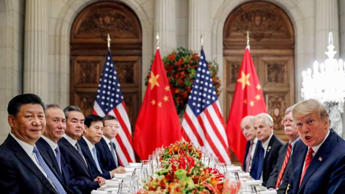 FILE PHOTO: FILE PHOTO: U.S. President Donald Trump, U.S. Secretary of State Mike Pompeo, U.S. President Donald Trump's national security adviser John Bolton and Chinese President Xi Jinping attend a working dinner after the G20 leaders summit in Buenos Aires, Argentina December 1, 2018. REUTERS/Kevin Lamarque/File Photo/File Photo/File Photo - RC172D12CCF0