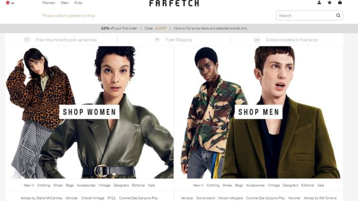 1f2a685db9a UK luxury fashion site Farfetch files for US IPO