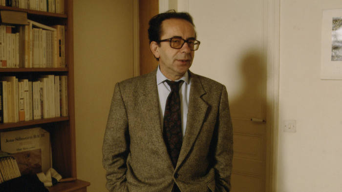 Albanian writer Ismael Kadare during the publication of his book