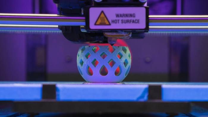 3D Printer making a plastic bowl.