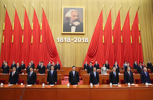 President Xi Jinping marking the 200th anniversary of Karl Marx's birth, May 4 2018