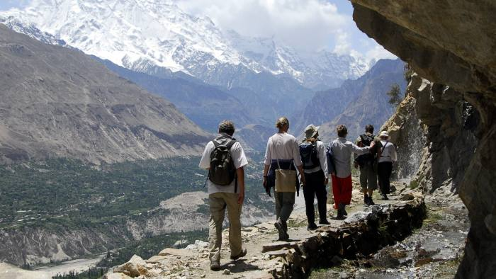 Walking in Hunza valley in the Gilgit-Baltistan region of Pakistan free image for ft money