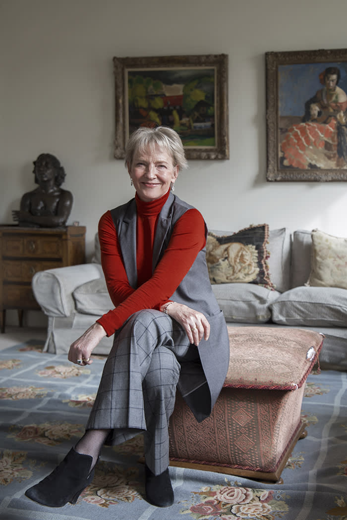 Julia Samuel in her London home earlier this month: 'In may respects I have lived a very traditional life – but I've also travelled millions of miles psychologically'