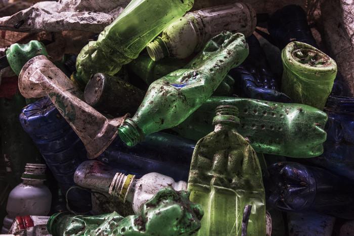 Bottles at the PT Elastic Reka Aktif plastic factory in South Cikarang, West Java