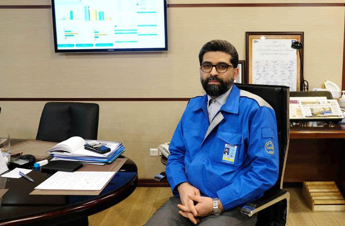 Farshad Moghimi the new managing director of Iran Khodro Car Factory in his office in Tehran, Iran. Photo by Kaveh Kazemi