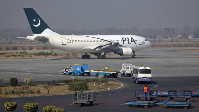 5c5ab32d5d1 A Pakistan International Airlines aircraft in Lahore