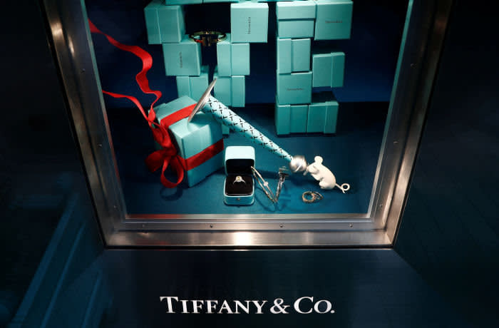 Tiffany & Co. jewelry is displayed in a store in Paris, France, November 25, 2019. REUTERS/Gonzalo Fuentes