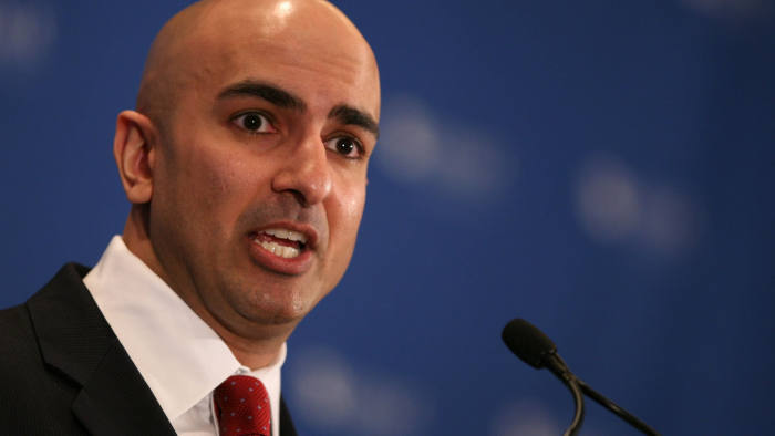 Neel Kashkari...Assistant Treasury Secretary Neel Kashkari speaks about the implementation of the Troubled Asset Relief Program at a conference hosted by the Securities Industry and Financial Markets Association Monday, Nov. 10, 2008 in New York. (AP Photo/Mark Lennihan)