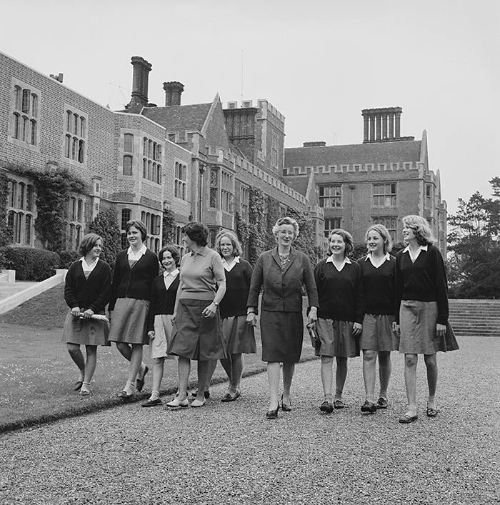 Pupils and teachers at Benenden School in 1963. Headmistress Samantha Price says the school could probably double its current intake of overseas pupils, 'but we don't feel it's in the interests of international students. They come for a British education'