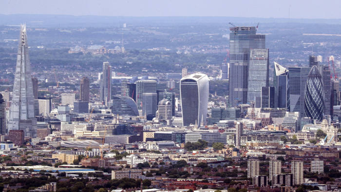 06-Aug-2019 A aerial view of the City of London.