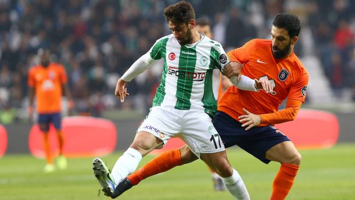 05f250fb Arda Turan, right - the most successful Turkish footballer of his  generation - in action for Basaksehir. The club is now second in Turkey's  Super Lig © ...