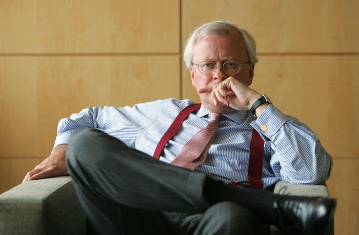 John Varley, CEO of Barclays Bank, photographed at their headquaters in Canary Wharf this afternoon.