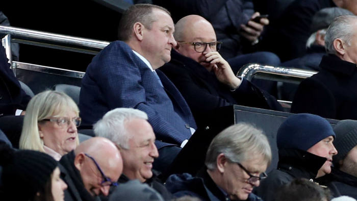Soccer Football - FA Cup Third Round Replay - Newcastle United v Rochdale - St James' Park, Newcastle, Britain - January 14, 2020 Newcastle United owner Mike Ashley and managing director Lee Charnley in the stands Action Images via Reuters/Lee Smith