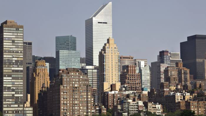 The Citigroup Center building stands in New York, as seen from the Long Island City neighborhood of Queens, New York, U.S., on Wednesday, July 22, 2009. New York CityÕs unemployment rate rose a full percentage point to 9 percent in May compared with April, the second-biggest jump in the past 33 years after FebruaryÕs record increase of 1.2 percentage points, the state Labor Department reported June 18. Photographer: Daniel Acker/Bloomberg News