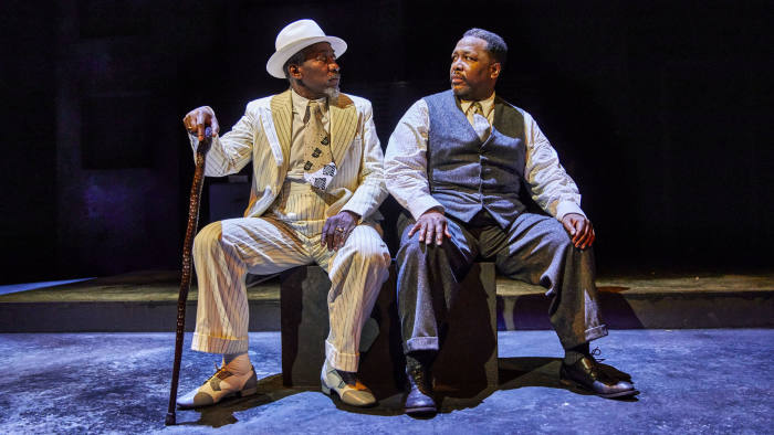 Joseph Mydell, left, and Wendell Pierce in 'Death of a Salesman'