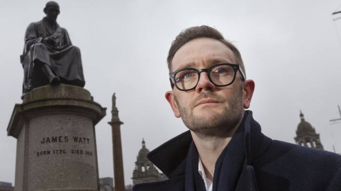 Chris Stark Chief Executive of the Committee on Climate Change Photographed in George Square, Glasgow 24th Feb 2020 Picture by Gary Doak Photography
