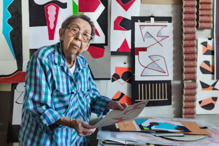 Geta Bratescu in her studio last year