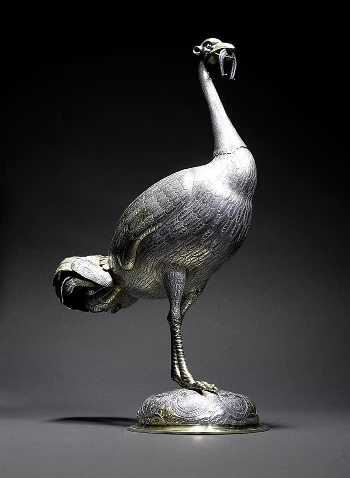 silver ostrich statuette (c1600)