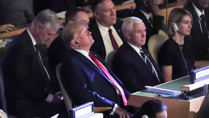 U.S. President Donald Trump ans Vice Preside Mike Pence attend the