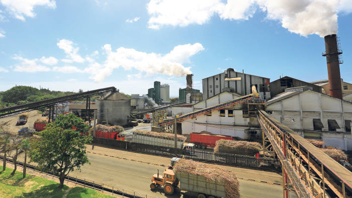 Sugar cane being transported to the Alteo power plant in Union Flacq, Mauritius to be converted into energy Press Image