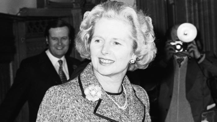 Margaret Thatcher at press conference at House of Commons following her success in the first poll for the Conservative Party leadership. 04/02/1975 Kirk