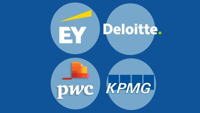 EY, Deloitte, PWE, KPMG logos