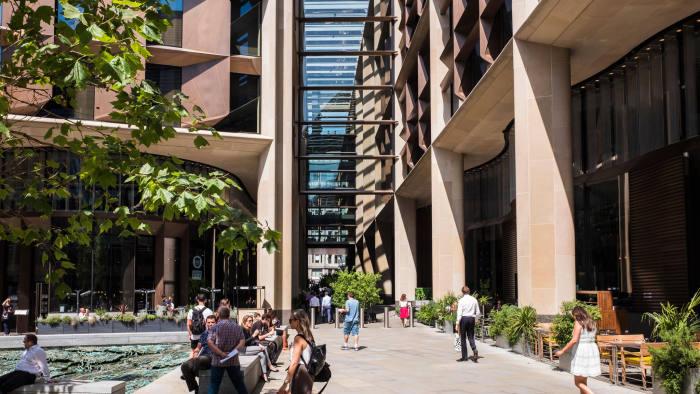W4X0P6 Bloomberg Building, Media group's European Headquarters, 3 Queen Victoria Street, City of London, England, U.K.