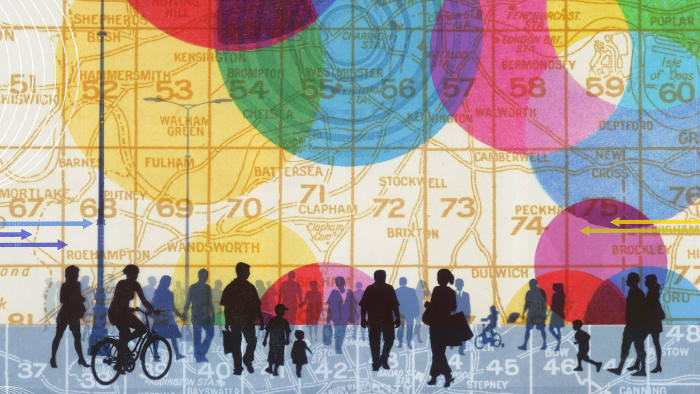 Illustration by Martin O'Neill of a demographic map