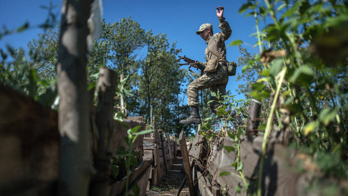 Europe's forgotten war. By David Bond. The conflict in Eastern Ukraine between Russian backed separatists and Ukrainian forces has been raging for 4 years and claimed 10,000 lives yet largely forgotten in the West. The training exercise and demonstration at Pokrovske, Eastern Ukraine.
