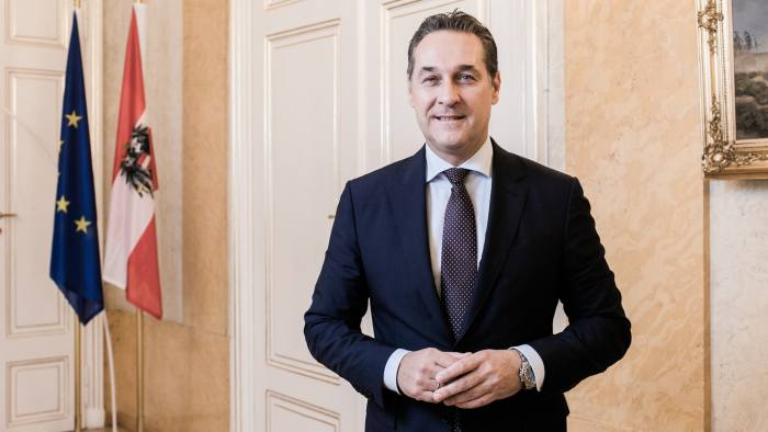 HC Strache, Austrian Vice Chancellor in his Office in Vienna