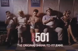 A mid-1980s Levi's ad: the blend of sex, music and Americana made each new one a national event