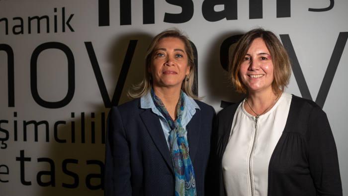 Professors Sebnem Burnaz (left) and Zeynep Erden Bayazit (right) at the Istanbul Technical University (İstanbul Teknik Üniversitesi), Turkey