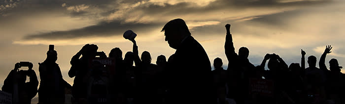 U.S. President Donald Trump rallies with supporters at Missoula International Airport in Missoula, Montana, U.S. October 18, 2018. REUTERS/Jonathan Ernst TPX IMAGES OF THE DAY - RC1B9BB8F320