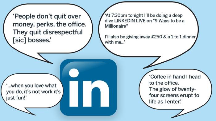 Linkedin And The Art Of Boastful Self Promotion Financial Times