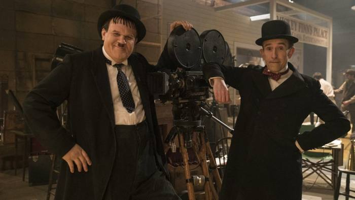 Undated handout photo issued by Entertainment One of John C. Reilly as Oliver Hardy (left) and Steve Coogan as Stan Laurel in Stan & Ollie. PRESS ASSOCIATION Photo. Issue date: Monday January 7, 2019. See PA story SCOTLAND StanOllie. Photo credit should read: Entertainment One /PA Wire  NOTE TO EDITORS: This handout photo may only be used in for editorial reporting purposes for the contemporaneous illustration of events, things or the people in the image or facts mentioned in the caption. Reuse of the picture may require further permission from the copyright holder.