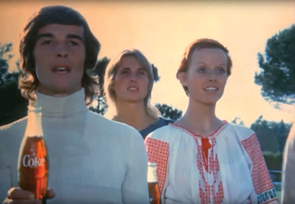 """Coca-Cola's 1971 """"I'd like to teach the world to sing"""" ad marked a switch towards advertising that aimed to """"lift the heart"""""""