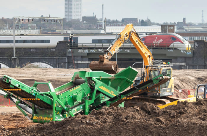 RPA57T Construction of the HS2 high-speed rail terminal in central Birmingham begins