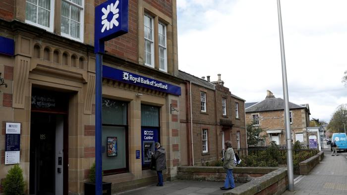 FILE PHOTO: The Royal Bank of Scotland is seen in the High Street Melrose in the Scottish Borders, Scotland, Britain April 27, 2017. Picture taken April 27, 2017. REUTERS/Russell Cheyne/File Photo