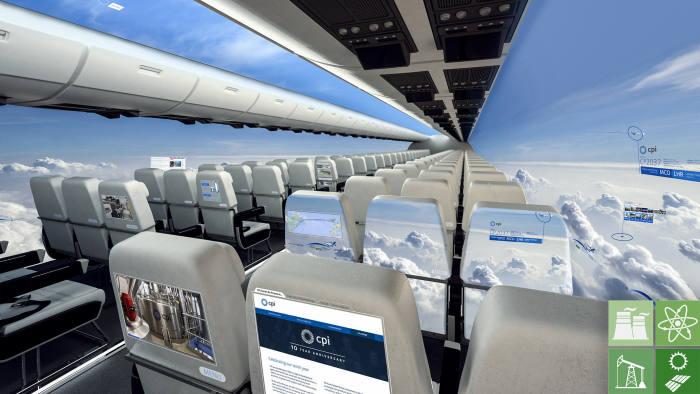 Windowless plane concept