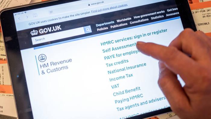 HMRC website. Tax. Self Employed.