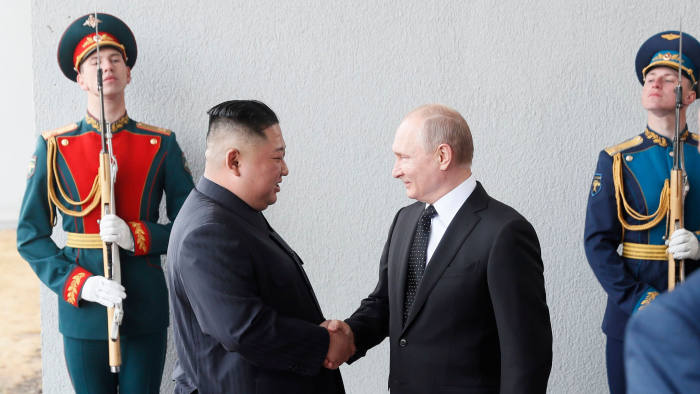 Putin Woos Kim At Vladivostok Summit As Us Talks Founder Financial Times