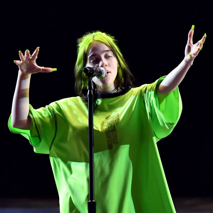 Billie Eilish performs at The Hollywood Bowl, LA in October 2019