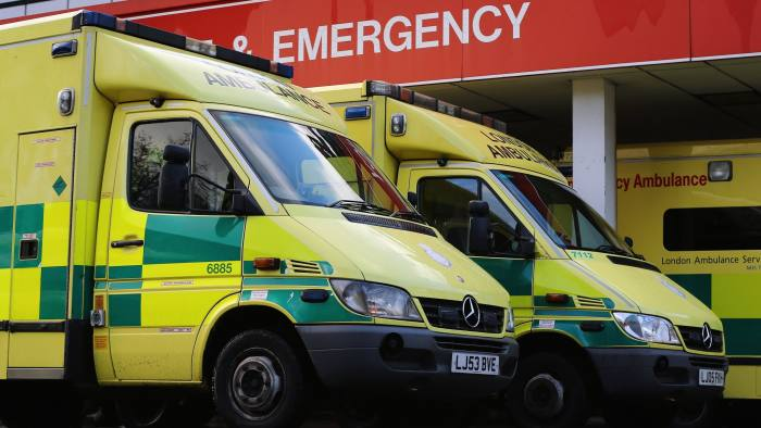 LONDON, UNITED KINGDOM - JANUARY 06: Ambulances park outside the Accident and Emergency ward at St Thomas' Hospital on January 6, 2015 in London, United Kingdom. Figures released suggest that the NHS in England has missed its four-hour A&E waiting time target with performance dropping to its lowest level for a decade. (Photo by Dan Kitwood/Getty Images)